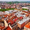 Above view on Lviv Ukraine