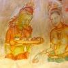 Sri Lanka - Sigiriya - Sigirija - Lavlja - stena - crtezi