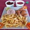 Sri Lanka - hrana - kari - pirinac- cili - chili - ljuto - riba- banana - pomfrit -paradajz - restoran - jeftina hrana - ukusno -