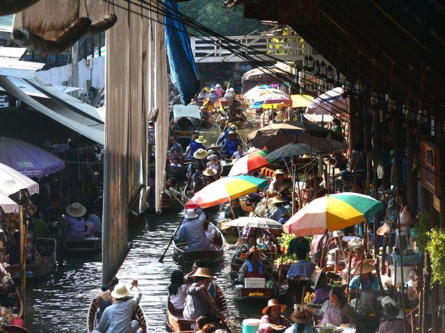 tajland - ploveća pijaca