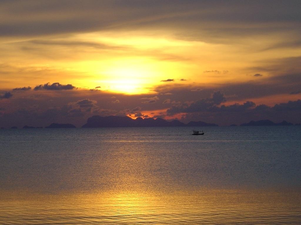 Zalazak sunca na Phanganu