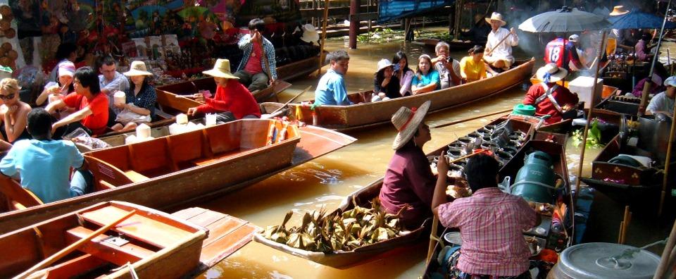 ploveća pijaca Tajland